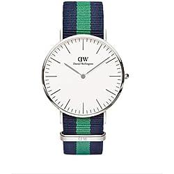Daniel Wellington 0205DW - Reloj con correa de nailon, color azul/verde