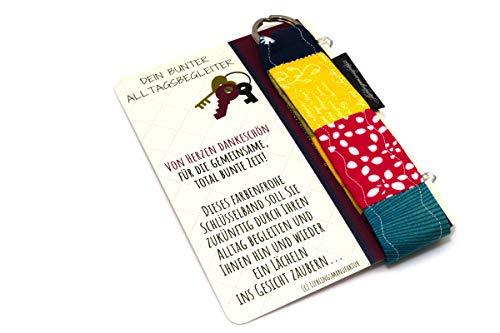 Lieblingsmanufaktur Abschiedsgeschenk für Lehrerin - von Herzen Dankeschön - Schlüsselanhänger mit Karte & Botschaft - zum Abschied danke sagen - persönliches Geschenk für Lehrer z.B. in Grundschule