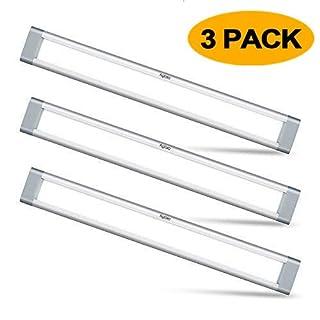 LED Under Cabinet Lighting, Aglaia Dimmable Under Cupboard Light LED 12W 6000K Ultra Thin Closet Light Bar for Kitchen Shelf Locker Show Case(3 Pack)