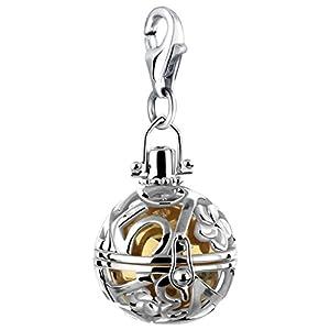Nenalina Engelsflüsterer Charm Anhänger in 925 Sterling Silber für alle gängigen Charmträger 712082-919