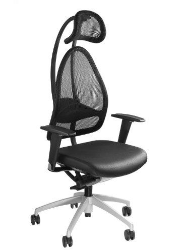 Topstar J170T S10 Open Art 10, Design- und Komfort-Drehstuhl, Bürostuhl, Schreibtischstuhl, inkl. Armlehnen, schwarz, alusilber