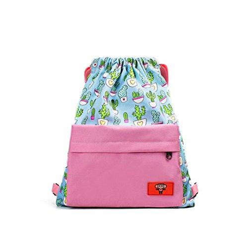 Canvas School Bags,Women Teenage Girl Boy Print Zipper Backpack School Bags Fashion Shoulder Bag by Kangrunmy Rosa
