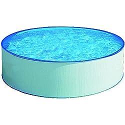 Gre KITPR35501 - Piscina (Azul, Color blanco, Montura, Alrededor, Acero, Cartridge filter, Caja)