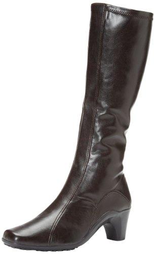 Aerosoles Lasticity Breit Rund Kunstleder Mode-Knie hoch Stiefel Brown