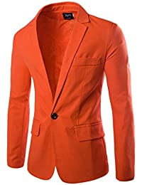 Y-BOA Blazer/Veste Décontracté Homme Fit Casual Costume Slim Smoking Printemps