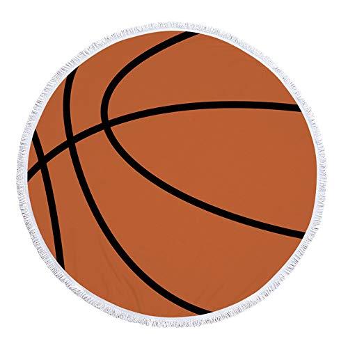GYBLZRPP Serviette de Plage Ronde pour Bronzer au Football, Couverture de Pique-Nique Portable, Tapis de Yoga à la Mode, Nappe, Serviette de Sport, Ballon de Basket 1 150 × 150 cm