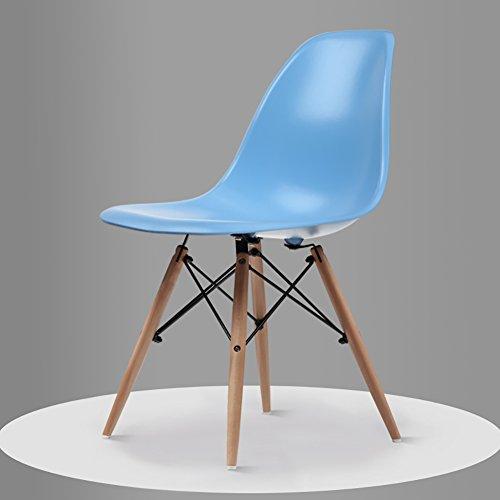 Teng Peng Chair - - Fauteuil minimaliste moderne, salon, bureau, salle à manger, banquette arrière confortable (taille 82.5X40X40 cm) produits menagers (Couleur : Bleu)