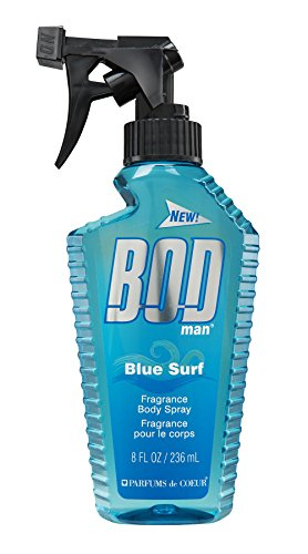 BOD Man Fragrance Body Spray, Blue Surf, 8 Fluid Ounce by Bod Man