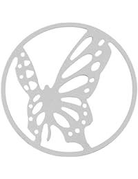 MY iMenso mariposa portada insignia plata 33 mm 33-0693