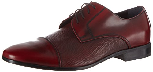 Hemsted & Sons M0026, chaussures Derby homme Rouge (Rot)