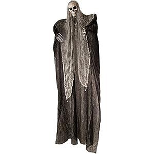 Carnival Toys - Esqueleto para colgar con túnica, 200 cm, color negro y gris (8527)