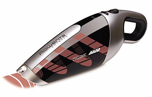 Rowenta AC476901 Aspirateur à Main Extenso Cyclonic Dry Sans Fil Rechargeable Embout Télescopique Brosse Meuble Cleanette Gris et Noir