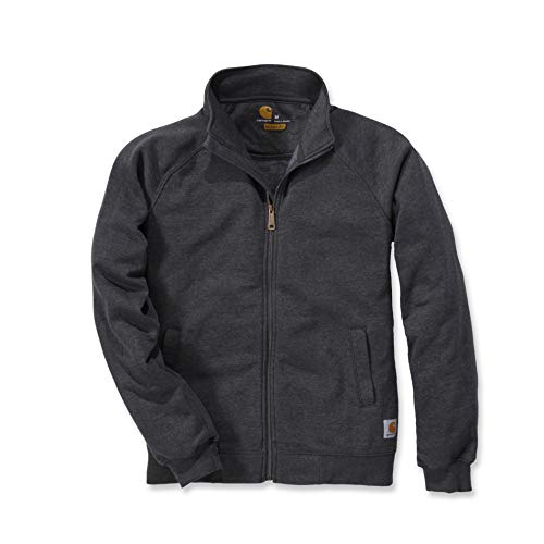 Carhartt Sweatshirt Midweight Mock Neck Zip Sweatshirt Carbon Heather-S