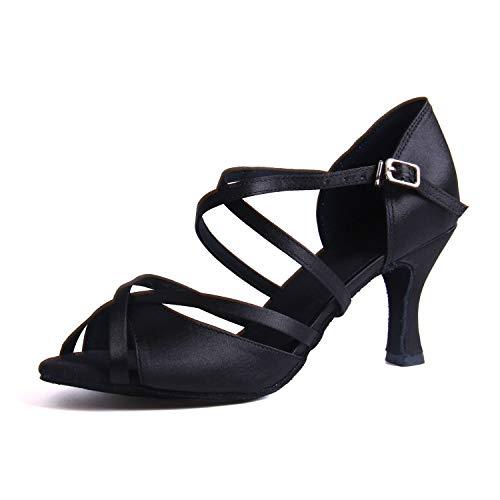 Syrads Zapatos de Baile Latino para Mujer Salsa Tango Moderna Bachata Vals Zapatos de Baile de Salón Suela Blanda 1010