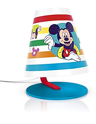 Philips Disney Mickey Mouse Children's Table Lamp - 1 x 4 W Integrated LED (Mickey Mouse Lampe)