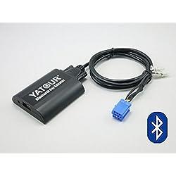 Adaptateur Bluetooth pour Renault - numérique, stéréo, appels mains libres, chargement USB et prise audio de 3,5mm - BTA-REN8