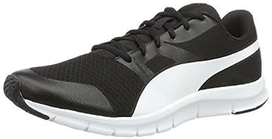 Puma Flexracer - Chaussures de Course - Mixte Adulte - Noir (Black/White 01) - 36 EU (3.5 UK)