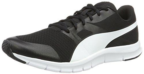Puma Unisex-Erwachsene Flexracer Sneakers, Schwarz (Black-White 01), 39 EU (6 UK) (Sport Damen Schuhe Puma)
