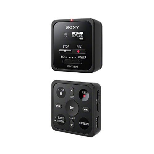 Sony ICD-TX800 ultrakompaktes digitales Diktiergerät (16GB, Fernbedienungsfunktion, OLED Display, bis zu 15 Stunden Aufnahmezeit) schwarz (Sony Diktiergerät)