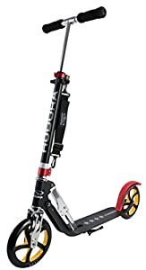 HUDORA Big Wheel Scooter 205 - Das Original, Tret-Roller klappbar - City-Scooter - 14759, schwarz/rot/gold
