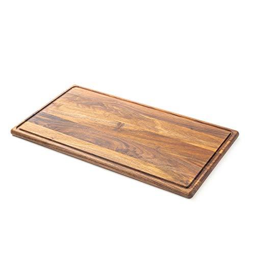 Tuuli Kitchen Tagliere Cucina Legno Noce Formaggio Antibatterico Pane Grande Profesionale Design QUALITÀ in legno di noce: Tagliere di alta qualità. Contenuto della confezione: 1 x tagliere. FUNZIONE: Il tagliere può essere utilizzato come tagliere p...