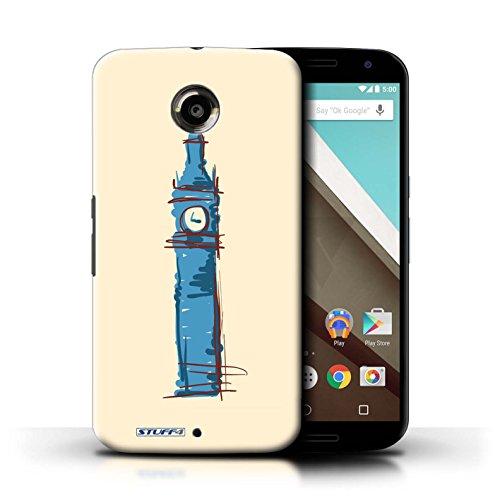 Kobalt® Imprimé Etui / Coque pour Motorola Nexus 6 / Moulin/Hollande conception / Série Monuments Big Ben / Londre