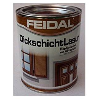 Feidal Dickschichtlasur , Farbton Ebenholz / v. Fachhandel / 2,5 L / Speziallasur äußerst wetter- und lichtbeständig,- stark wasserabweisend (mit Abperleffekt)