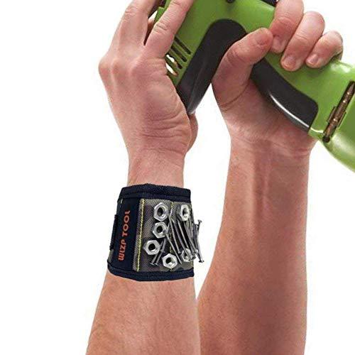 Bracelet magnétique pour bricoleur, 5aimants puissants...