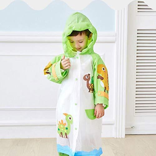 BAIF Regenmäntel Kinder Jungen Aufblasbare Hüte Mädchen Grundschulkinder Schultaschen Lange Kinder (Farbe: C-S)