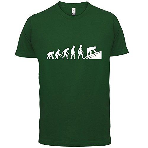 Evolution Of Man Dachdecker - Herren T-Shirt - 13 Farben Flaschengrün