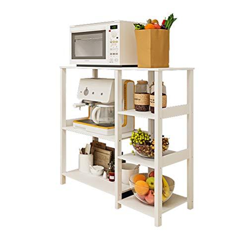 Kitchen furniture - Étagère de rangement multifonctionnelle à la mode avec support de four à micro-ondes multicouche WXP (Couleur : Blanc)