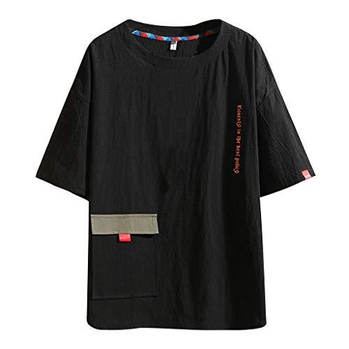 e1d02a8ff0cdb waotier Camiseta De Manga Corta De Hombre Verano Moda Casual ImpresióN  O-Cuello De Manga Corta Camiseta Tops Blusa