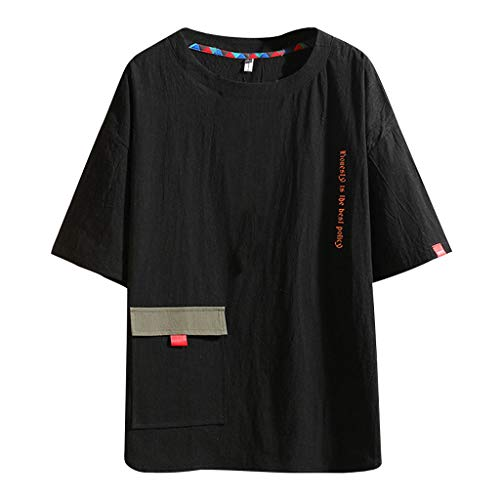 TEBAISE T-Shirts Herren Hip-Hop Coole Shirts Crew Neck Tops 2019 A Harajuku STYL Sweatshirts Streetwear Stil Tee Rapper Kurzarm Shirt Harajuku Oversized Kleidung Straße Stil