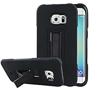 Samsung Galaxy S6 Edge Plus Case - Black, MPERO IMPACT XS Series Tough Durable Shock Absorbing Textured Hybrid Kickstand Case for Galaxy S6 Edge Plus