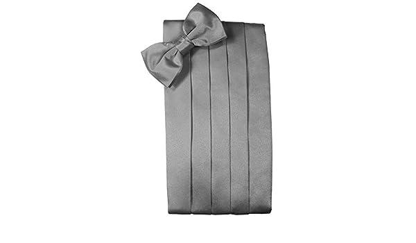 Mens 100/% Noble Silk Cummerbund /& Bow Tie Set White Many Colors