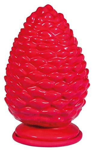 Rayher 34388000 Moule latex forme complète : Pomme de pin, moule en latex pour couler le béton créatif, la résine, du savon ou de la cire, 9,5 cm x 15 cm, 1 pièce en sachet LS, rouge