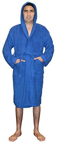 SKYLINEWEARS Men's 100% Terry Cotton Toweling Hooded Bathrobe Dressing Gown Robe