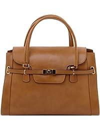Tuscany Leather TL NeoClassic - Sac à main en cuir avec fermoir twist Sacs à main en cuir