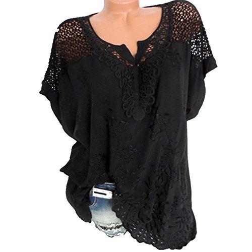 Camisetas Mujer Verano Blusa Mujer Elegante Camisetas Sueltos Casuales de  Top Casual de Color SóLido de 1d05f1c1c31