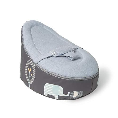 Doomoo SE1 Baby-Lagerungskissen & Sitzsack mit Toxproof Mikroperlen Füllung, blau