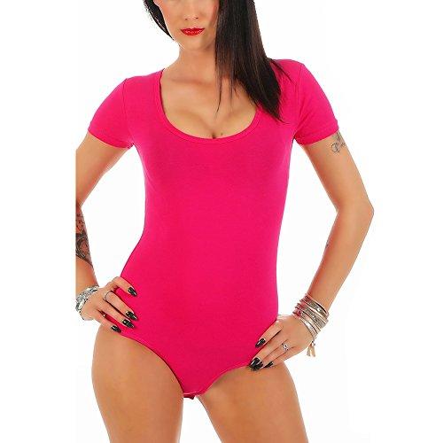 Pink Für Bodys Frauen (BALI Lingerie - Damen Kurzarm Body mit U-Neck - S M L XL (M/L - (38/40), Pink))