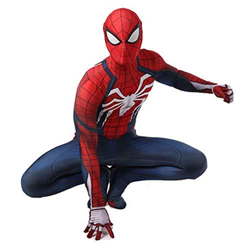 gikmhyb PS4 Spiderman Anime Kleidung Anime Kleidung Strumpfhosen Overall Onesies Druck Hoodie Halloween Kostüm Film Party Superheld,X-Large (Halloween Kostüme Basierend Auf Den Filmen)