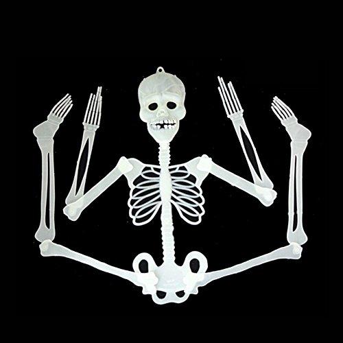cht im Dunkel Schädel Skeleton Scary Spooky Halloween Props Bar Dekoration(Zufällig)(Versand aus HK,Lieferzeit :10-25 Tage) (Halloween Scary Skeletons)