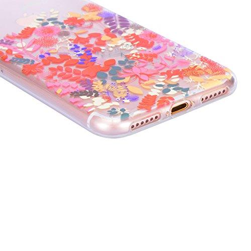 Coque iPhone 6S, Sunroyal iPhone 6 6S Silicone Coque de Protection Transparente TPU Gel Souple Etui Housse Anti-choc Shock-Absorption Bumper Case Cover Premium Ultra-Mince Motif Impression Créatif Cou Motif 04