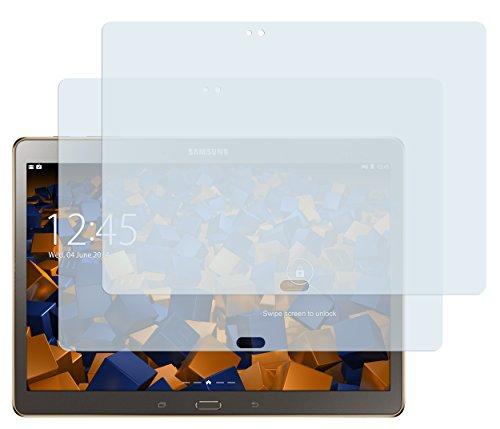 mumbi Schutzfolie kompatibel mit Samsung Galaxy Tab S 10.5 Zoll LTE Folie, Galaxy Tab S 10.5 Zoll Wifi Folie klar, Bildschirmschutzfolie (2x)