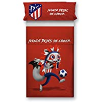 Atlético de Madrid. Juego Sábana + Funda Almohada Oficial del Club. ATM Indi. (Cama 90 cm)