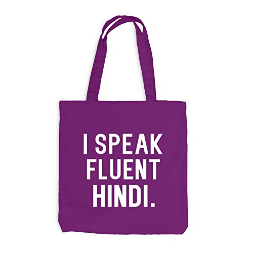 Hindi I Sprache Jutebeutel Magenta fluent speak qAHwRP