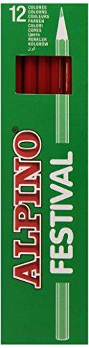 Alpino C0130005 – Caja, 12 unidades, color rojo