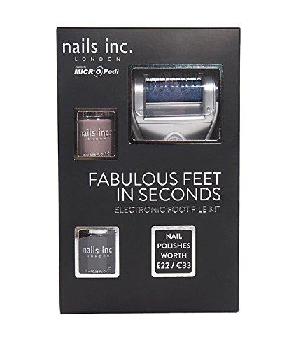 Nails Inc Kit pied Fichier électronique – Alimenté par micro pedi