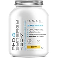 PhD Nutrition Synergy ISO-7 All-in-One Protein Powder, Vanilla Creme, 2 kg